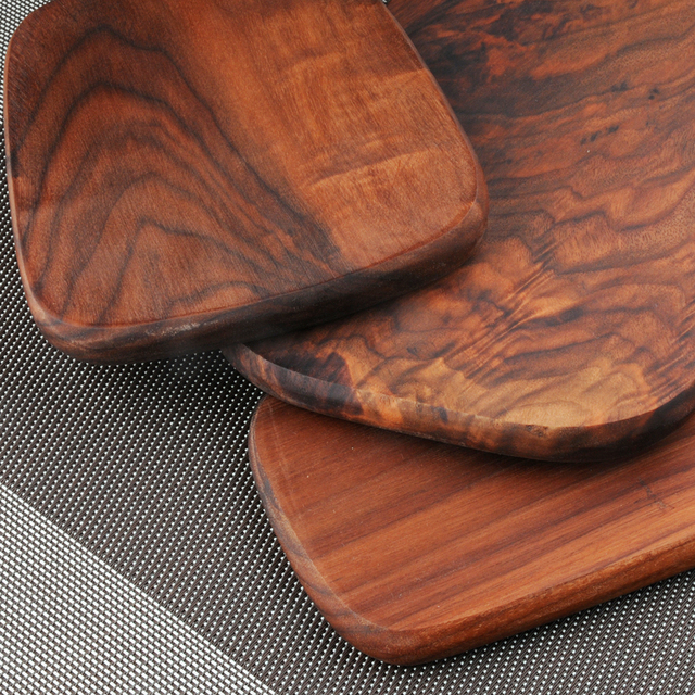 1 Pcs Black walnut wood cutting board kitchen chopping board 3 size pizza disks real wood without glue stock plate