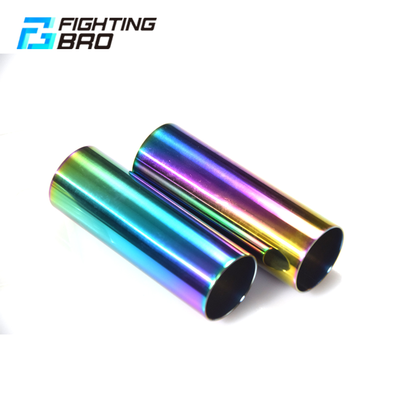 FightingBro 75%80%100% Cylinder Stainless Steel For AEG Airsoft Air Guns Paintball M4 AK Gel Blaster Gearbox