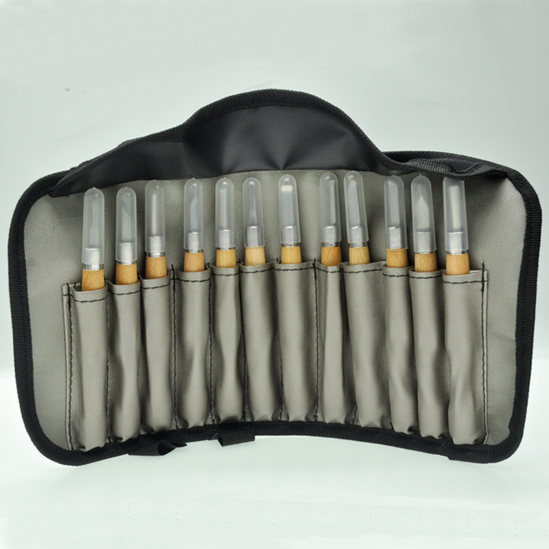 LTZFTL Professional 12Pcs/set Manual Wood Carving Hand Chisel Tool Set Carpenters Woodworking Carving Chisel DIY Hand Tool