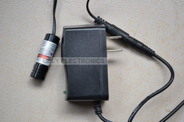 Focusable Violet/Blue 405nm 150mW Laser DOT Module with US Adapter