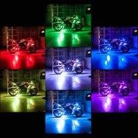 Audew Motosiklet ARAÇ VAN BISIKLET Motosikleti ATV 8 Şerit RGB LED Kiti Uzaktan Çoklu Renk Neo Işık Glow