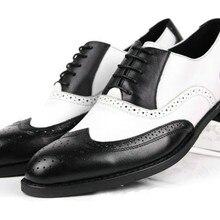 Мужские оксфорды; Цвет черный, белый; модельные туфли в деловом стиле из натуральной кожи; повседневные мужские оксфорды в винтажном стиле; высокое качество