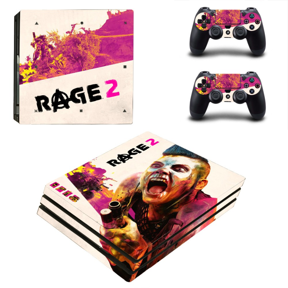 Game Rage 2 PS4 Pro Skin Sticker For Sony PlayStation 4 Pro Console and Controller For Dualshock 4 PS4 Pro Sticker Decal