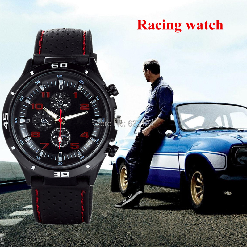 Men Sports Watches Quartz Watch F1 Racing Hot Sale Fashion Male Sports Stylish Silicone Watch Casual Round Dial Relogios