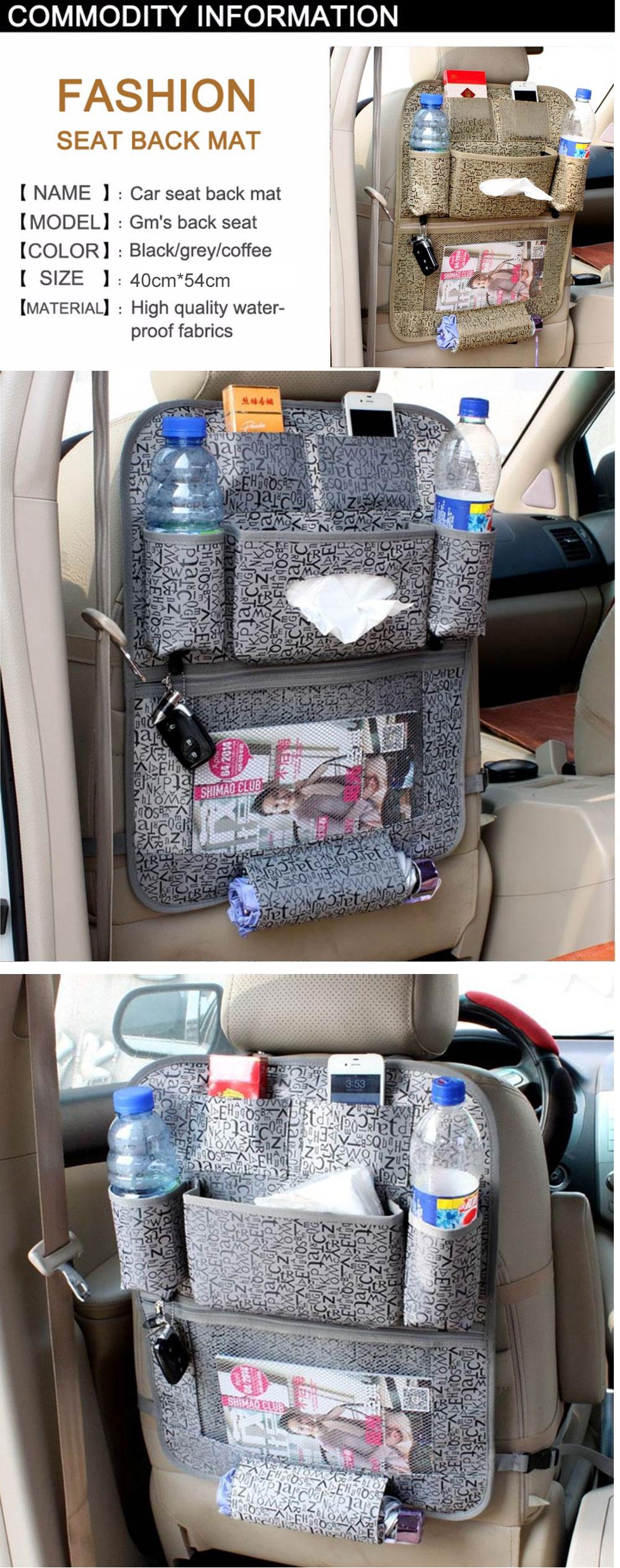 Car Organizer waterproof Car seat covers protector mat Car Storage Bags Seat Back Protector Case Cover Multi-Purpose 1