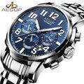 AESOP Mode Blau Uhr Männer Marke Automatische Mechanische Stoßfest Wasserdicht Männer der Armbanduhr Männlichen Uhr Relogio Masculino-in Mechanische Uhren aus Uhren bei