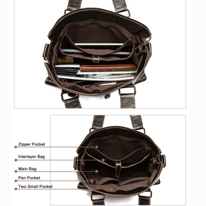 Image 4 - WESTAL mens briefcases mens bags genuine leather laptop bag leather work office bags for men business briefcases bags male 260