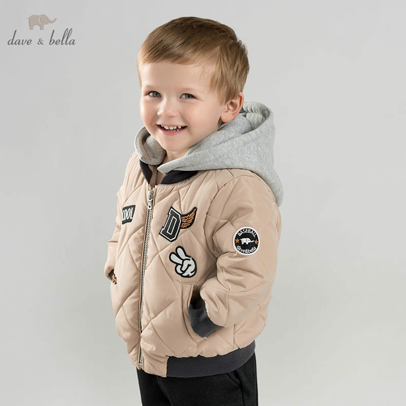 DBM9249 dave bella baby boys cotton jacket children  outerwear fashion khaki coatDBM9249 dave bella baby boys cotton jacket children  outerwear fashion khaki coat