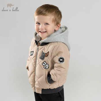 DBM9249 dave bella baby boys cotton jacket children  outerwear fashion khaki coat - DISCOUNT ITEM  70% OFF All Category