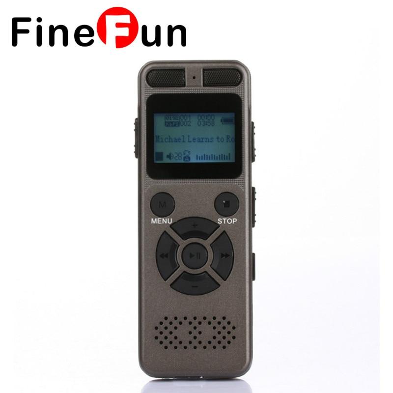 ФОТО FineFun Professional Audio Recorder Business Portable Digital Voice Recorder Support Telephone Recording 8GB Tf Card