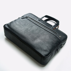 Image 3 - 2019 New Genuine Leather Mens Briefcase Business Black Leather Handbag Casual Shoulder Bag Large Capacity Computer Briefcases