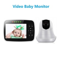 SM93 Baby Monitor Showing Baby Surveillance Camera Watch with 3.5 LCD Screen night vision two way audio Temperature Sensor