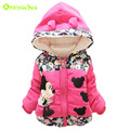 KEAIYOUHOU Baby Winter Jacket For Girls Kids Warm Outerwear Clothes Hooded Children Jacket Girls Coats 2017 Winter Girls Clothes