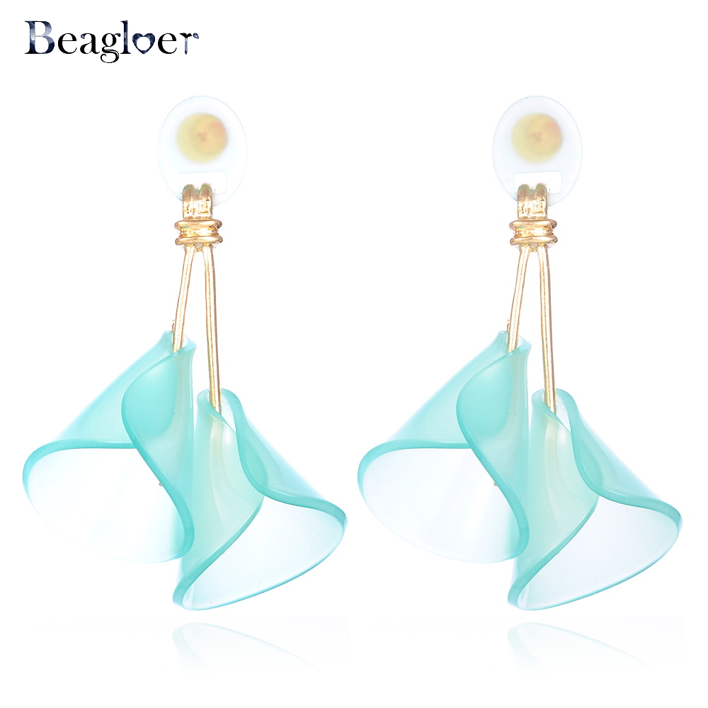 Beagloer Trendy Pinky Color Drop Dangle Earrings Wholesale Charm Statement Earrings For Women Cute Fashion Jewelry S080231