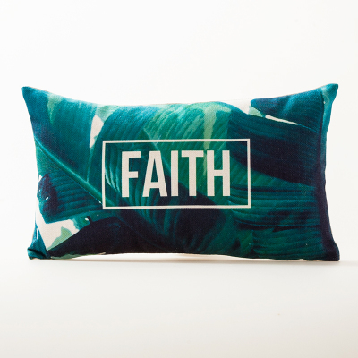 Tropical Faith Cushion Cover