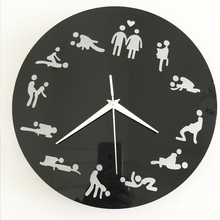 Hot Sale Kama Sutra Sex Position Clock Sex Clock Novelty Wall Clock bedroom living room wall clock