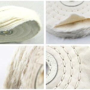 Image 3 - 1 Uds. De paño de pelusa de algodón de 4 12 pulgadas, rueda de pulido de espejo de joyería de oro y plata, Agujero interior de 12mm, 50 capas