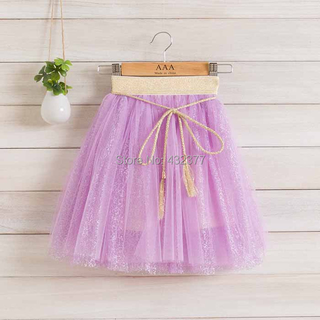 Мода пушистые шифон Pettiskirts пачка девочки юбки принцесса танца износа ну вечеринку одежда 3 - 10 ю . с . 6 цветов