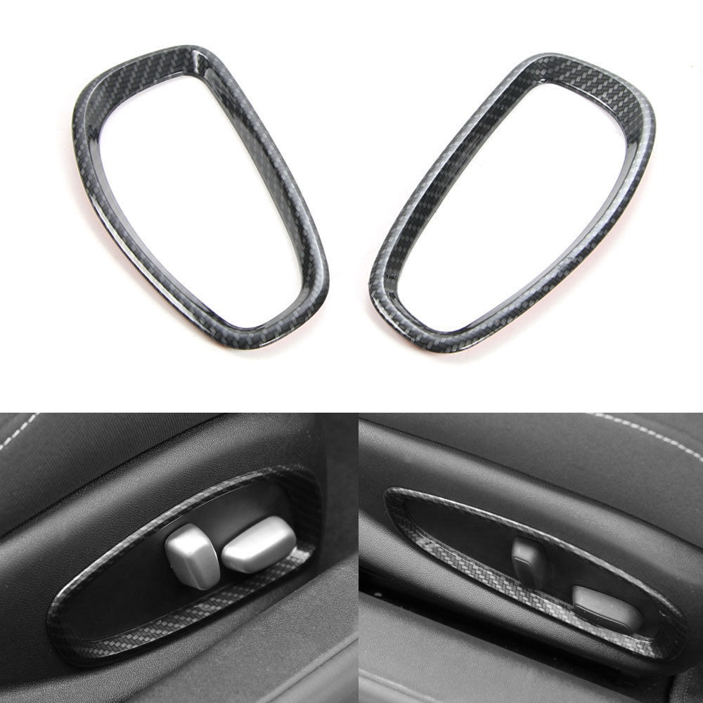 BBQ FUKA New Auto Car Styling Interior Mouldings Car Seats Adjust Button Frame Circle Trims Cover