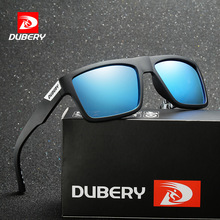 DUBERY Sunglasses Men Polarized New Fashion Square Outdoor Sport Vintage UV400 Protection Sun Glasses For Women Mirror Brand