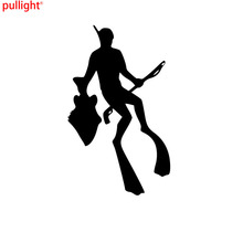 7.9*13CM The Stylish Deep-sea Fishing Car Stickers Personalized Motorcycle Vinyl Decals