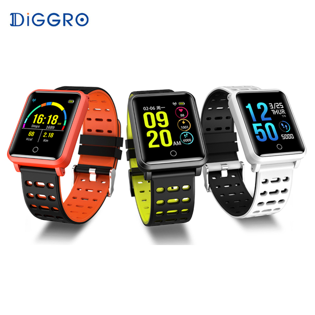 1f974ce61e9 Diggro N88 Smart Watch IPS IP68 Waterproof Detachable Strap Color Screen  Bluetooth Heart Rate Blood Pressure Monitor Smart band