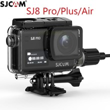 חדש מקורי SJCAM אופנוע עמיד למים מקרה עבור SJCAM SJ8 פרו/בתוספת/אוויר טעינה דיור פעולה מצלמה עבור SJ8 מטען מקרה