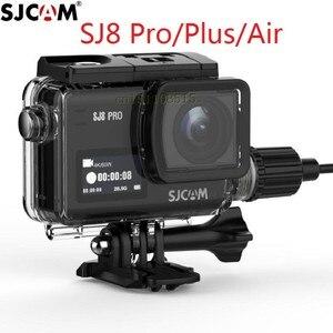 Image 1 - חדש מקורי SJCAM אופנוע עמיד למים מקרה עבור SJCAM SJ8 פרו/בתוספת/אוויר טעינה דיור פעולה מצלמה עבור SJ8 מטען מקרה