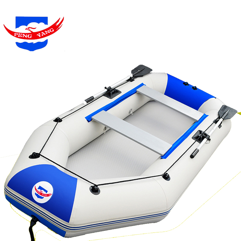 PENGYANG 2.3m 2.6m Inflatable Rowing Boat PVC Boat Durable Fishing Boat For Kayaking 1.2mm Thicken PVC Rowing Boat Recuse Raft boat