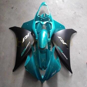 Custom YZFR1 2009 2010 2011 ABS Full fairing kits for YZF R1 2009-2011 ABS Plastic fairing+Screws+light blue