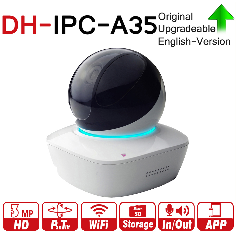 DH IPC-A35 3MP A Series Wi-Fi Network PT Camera 355/90 Degrees Pan/Tilt Two-way Audio Night Vision Memory Card Local Storage цена