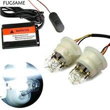 FUGSAME Автомобильный Стробоскоп скрытый противотуманный светильник s, стробоскоп предупреждающий светильник 2 шт ксеноновый стробоскоп светильник, супер яркий, длительный срок службы