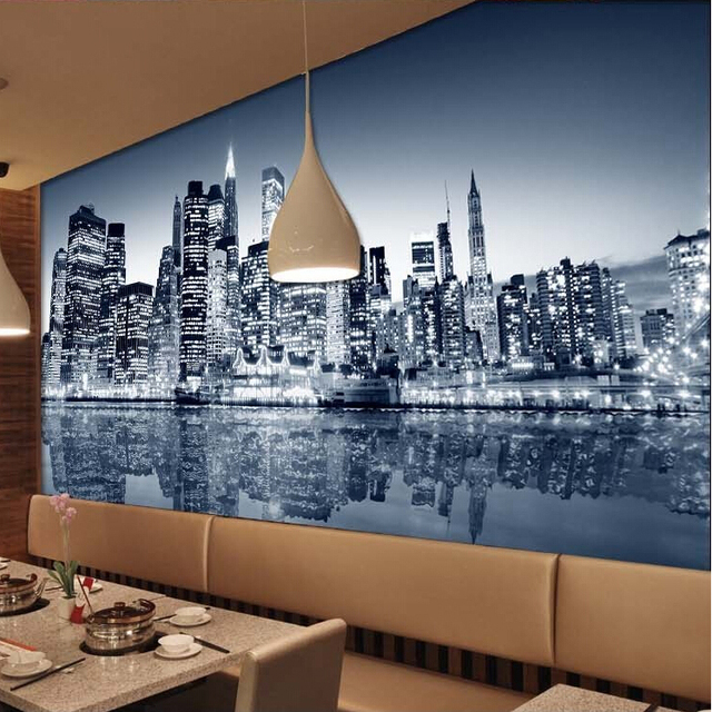 Custom Photo Silk 3D Wallpaper For Walls 3 D Living Room Office Hotel TV  Background Wall