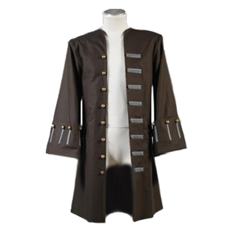 Pirates Of The Caribbean Jack Sparrow Jacket Coat cosplay Costume