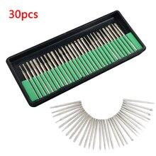 30pcs 3 มม.เครื่องมือเพชรBursโรตารี่Dremelเครื่องมือSintered Diamond Burs AbrasiveหัวบดDremelเพชรBits