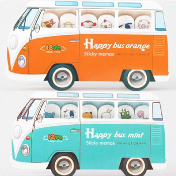 New creative happy bus Notepad / memo pads / sticky note /label / message post marker