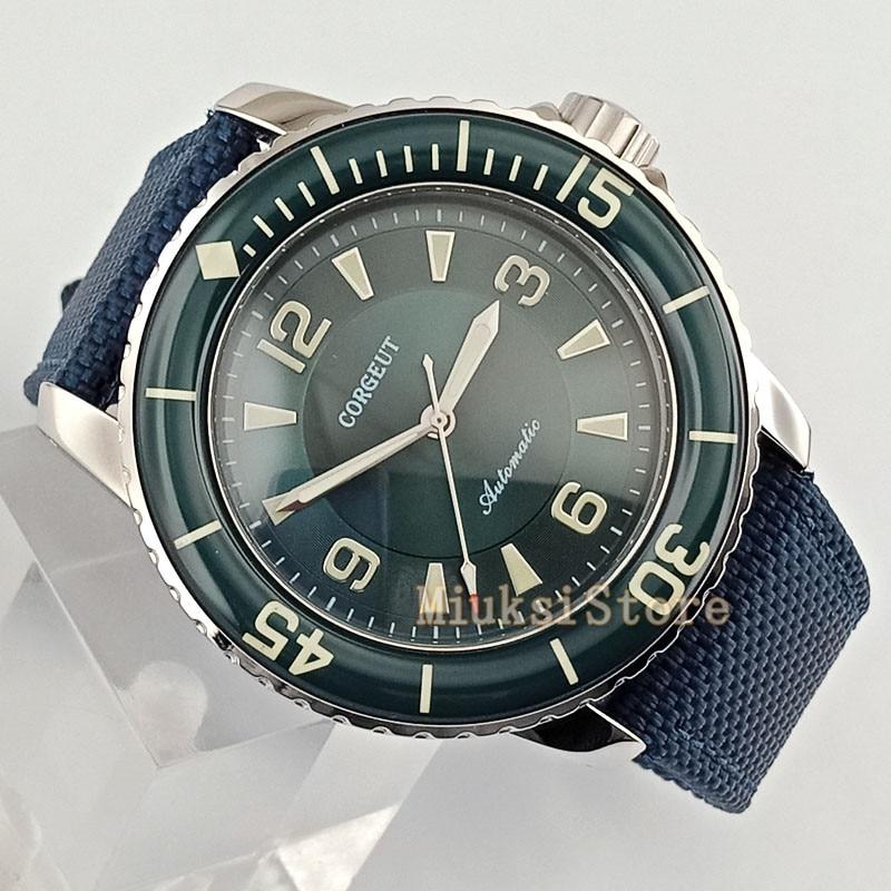 45mm Green Luminous nouvelle automatic mens mode faux chronographe Classique pour Cristaux Montres montre Cadea Montre