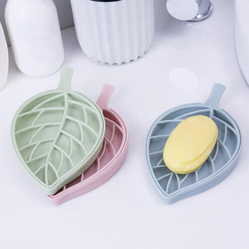 F3P_Leaf-shape-soap-box-shower-tray-hiking-bath-house-container-holder-travel-new-soap-dish-candy