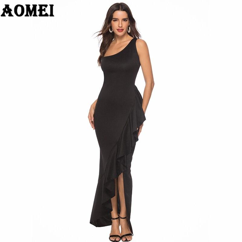 Женское Макси-платье, вечернее платье с открытыми плечами, с оборками, сексуальное, для особых случаев, необычное, вечернее, Клубное платье, ...