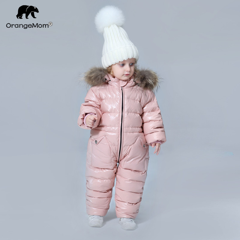 degree Russian winter children s clothing down jacket boys outerwear coats thicken Waterproof snowsuits Girls Clothing