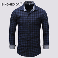 U S Size Cotton Shirt Quality Brand Men Shirt Long Sleeve Slim Fit Camisa Casual Male
