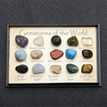 15 Different 0.25 inches Reiki Travel Collection Natural Tumbled Gemstones Stones Set in Plastic Display Box