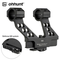Ohhunt Quick Detach AK Side Rail Tactical AK47 AK74 AK Scope Mount With Integral 25.4mm 30mm Ring