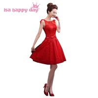Modest Girls Sweet 16 Knee Length Tulle Homecoming Puffy Party Special Dresses Short Red 2016 Ball