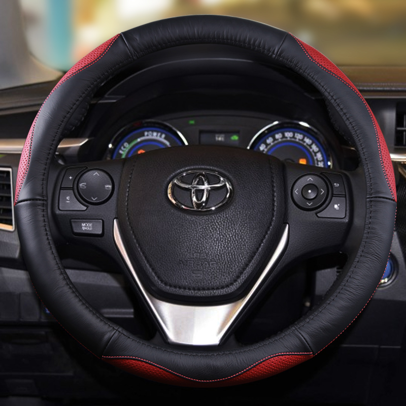38cm Sport Car Steering Wheel Cover Case For Toyota Yaris