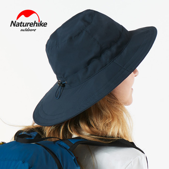 NatureHike Outdoor Hiking Travlling sport i wędkarstwo letni kapelusz przeciwsłoneczny duży daszek cieniowanie i szybkoschnące czapki przeciwsłoneczne tanie i dobre opinie Stałe Parasolka NH17M005-A WOMEN Poliester