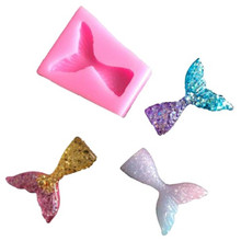 NEW Mermaid Tail Fondant Cake Moulds Silicone Mold Decorating Baking Tools Handmade Soap Fish Fork tail