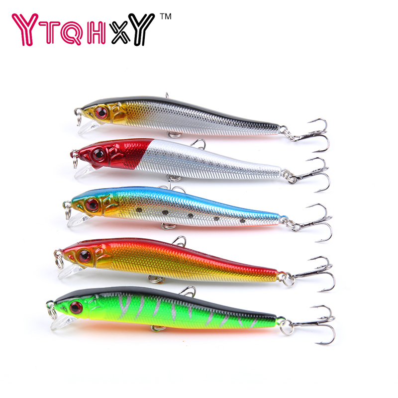 5pcs/lot Minnow Crankbait Hard Bait 8# Hooks Lures 5.5g 8cm Wobbler Slow Floating Jerkbait fishing Lure Set YE-26DBZY wldslure 4pcs lot 9 5g spoon minnow saltwater anti hitch crankbait hard plastic plainting fishing lures bait jig wobbler lure