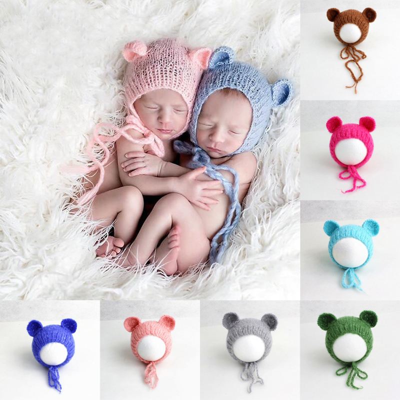 US $5 56 39% OFF|0 1 Months European Child Photography Mohair Hats Studio  Baby Pictures Hand Made Modeling Cap-in Hats & Caps from Mother & Kids on