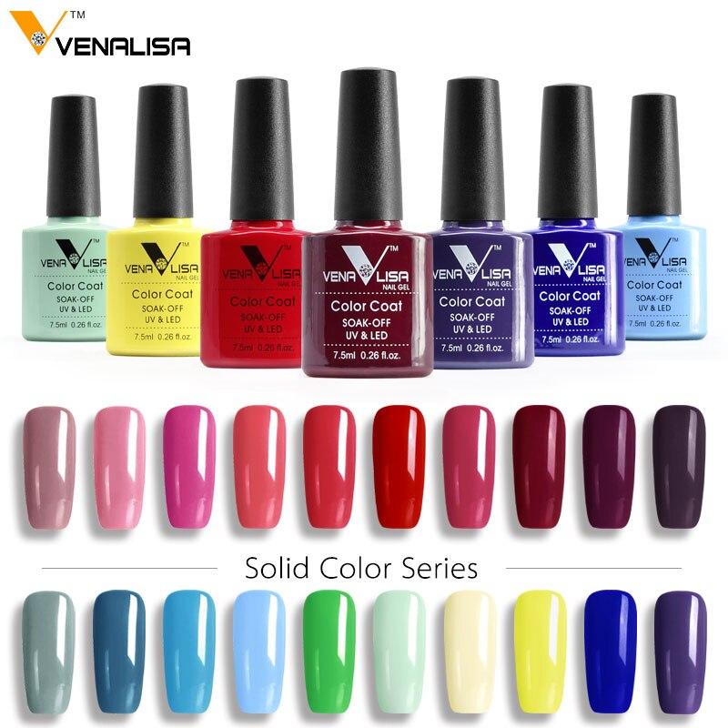 #61508 CANNI Gel Polish 2016 Hot Nail Art Design High Quality 60 Colors 7.5ml Venalisa Soak off Organic UV Nail Gel Varnish